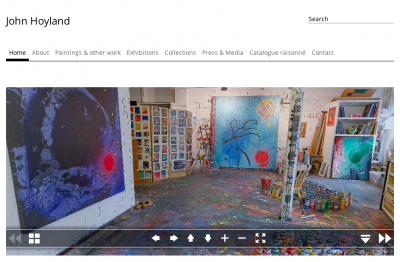 The artist and his art – John Hoyland RA Website design and build